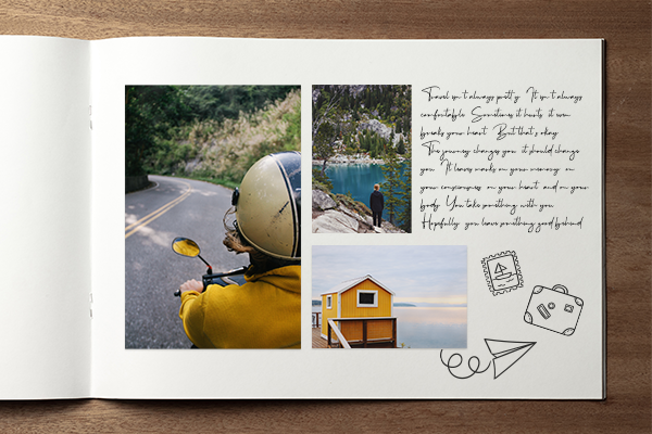 Print your photos as stickers for a scrapbook