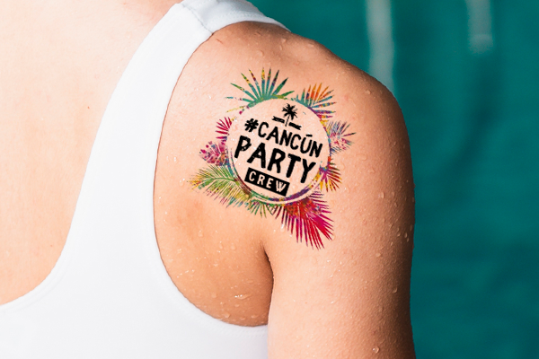 Surprise your squad with temp tats of your good times