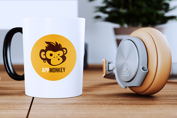 Vinyl sticker on mug
