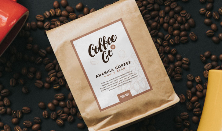 Coffee package with custom label
