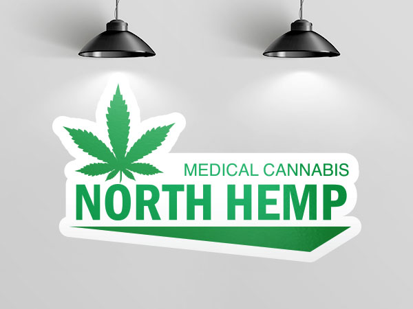 Dispensary logo wall decal
