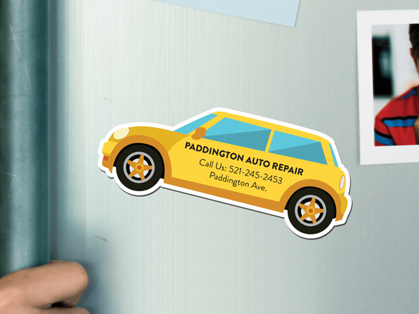 Custom fridge magnet for auto repair shop logo