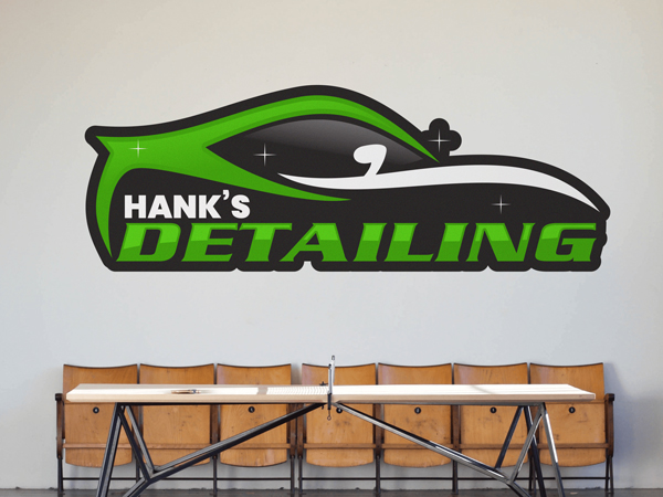 Custom logo wall decal for automotive repair shop