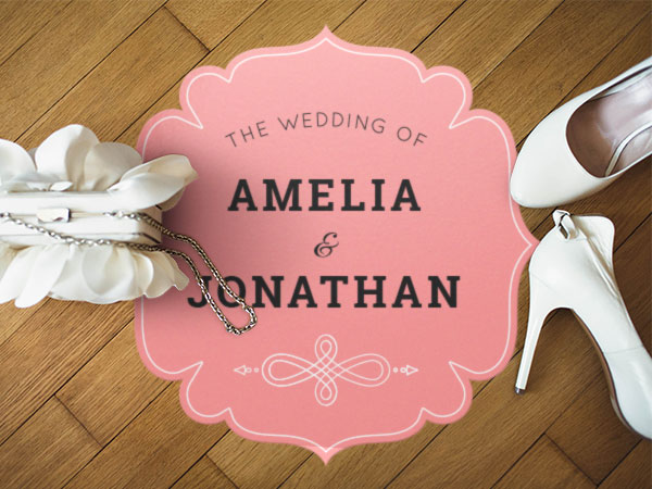 Custom Wedding Floor & Wall Decals