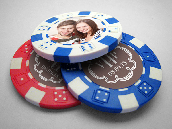 Wedding Poker Chip Labels