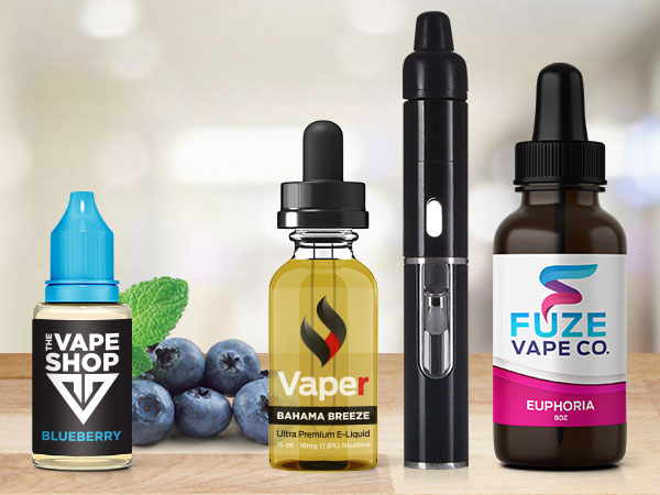 A variety of vape packaging with custom labels