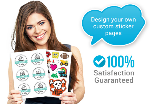 Award-winning custom sticker pages