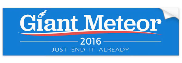 Funny Political Bumper Stickers 2016