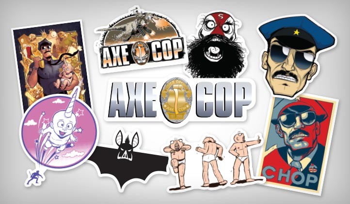 Axe Cop Stickers