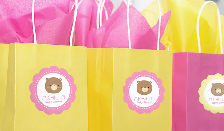 Baby Shower Labels, Gift Bag Labels