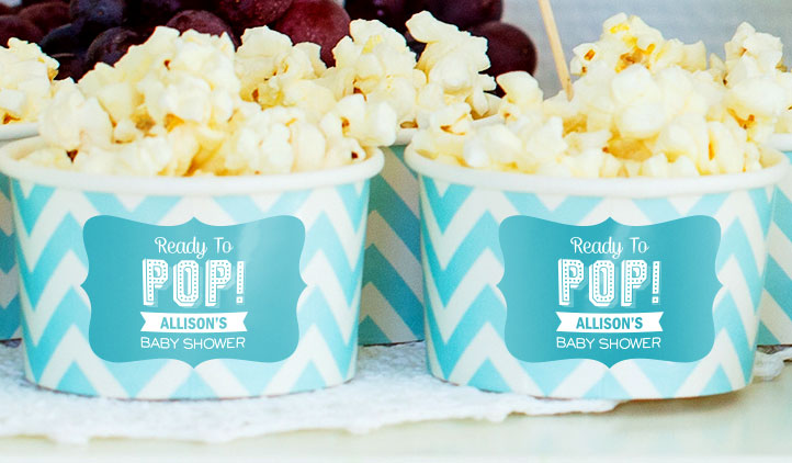 Baby Shower Popcorn Labels