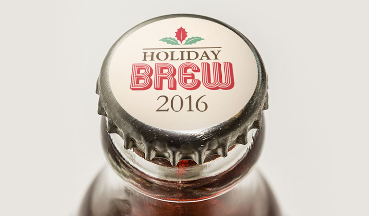 Holiday Beer Cap Labels