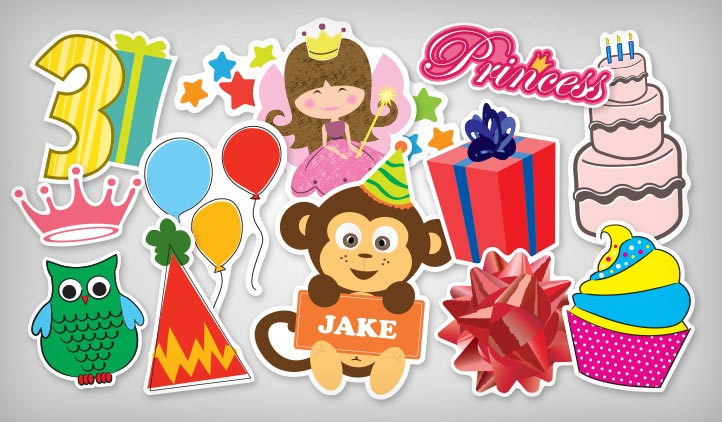 Birthday Decoration Stickers | StickerYou Products