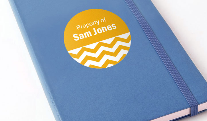 Custom name labels on a notebook