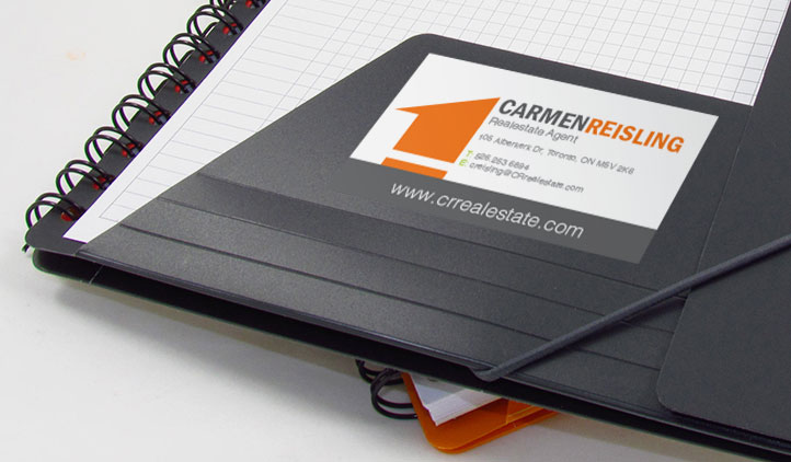 Business Card Sticker Holder