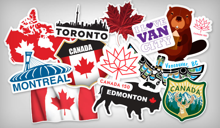What better way to celebrate canadas 150th birthday than with canada themed stickers show off your canadian pride with bumper stickers laptop stickers