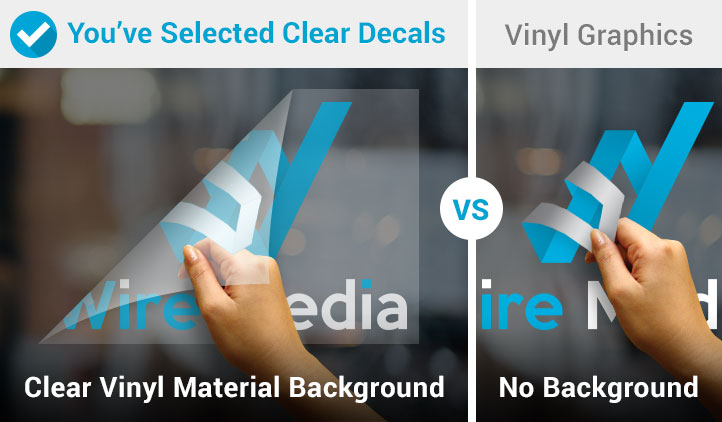 Clear decals vinyl graphics comparison