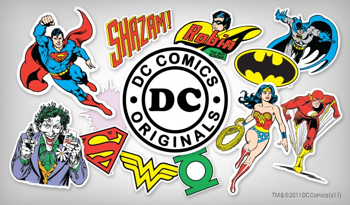 Dc comics originals stickers