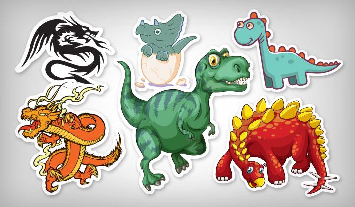 Dinosaur & Dragon Stickers | StickerYou Products - StickerYou