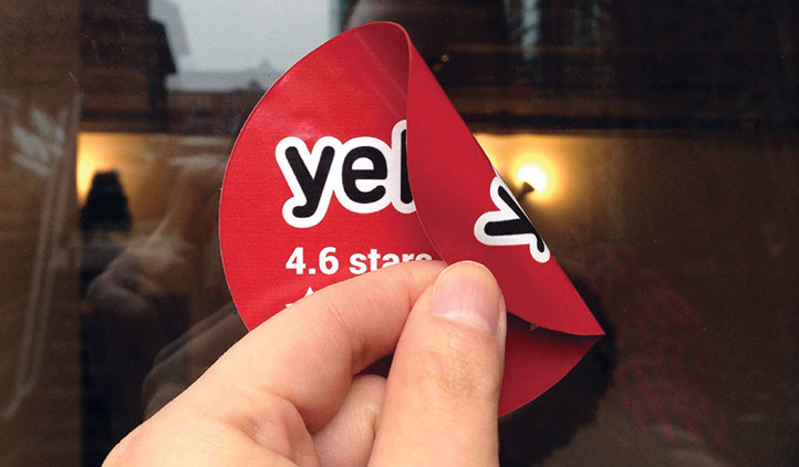 Yelp Double Sided Label