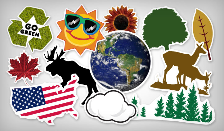 Earth & Land Stickers