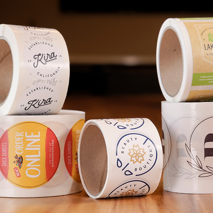 Assorted Eco Friendly Custom Roll Labels