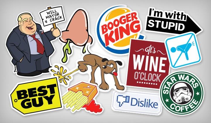 Humor pun stickers