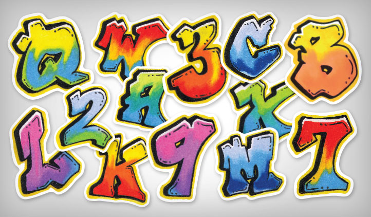 Graffiti Letter Stickers
