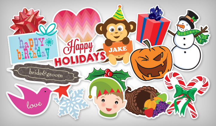 Christmas Quotes And Sayings Glitter Sticker Decal: StickerYou Products