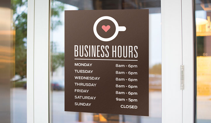 business door signs