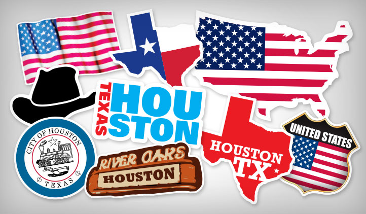 Houston stickers stickeryou products