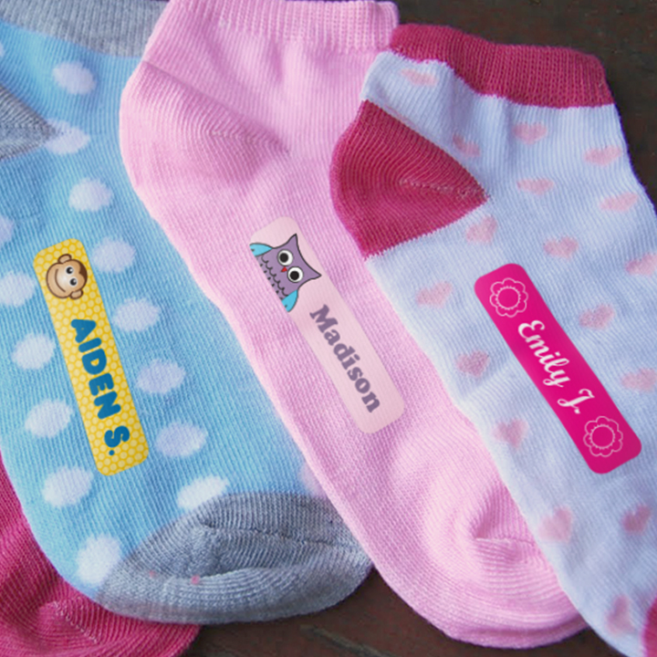 Iron-On kids labels on socks