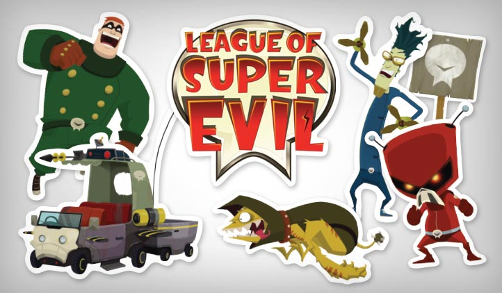 League of Super Evil Stickers