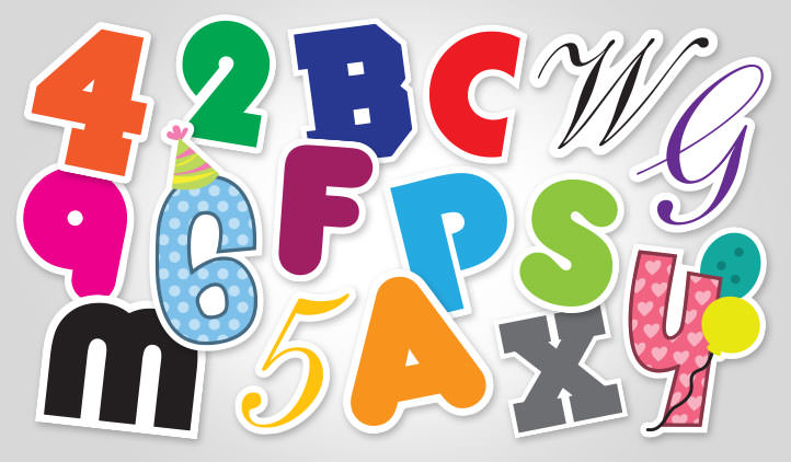 Letter & Number Stickers