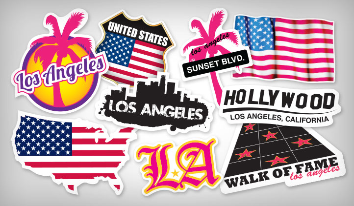 Los Angeles Stickers Stickeryou Products Stickeryou