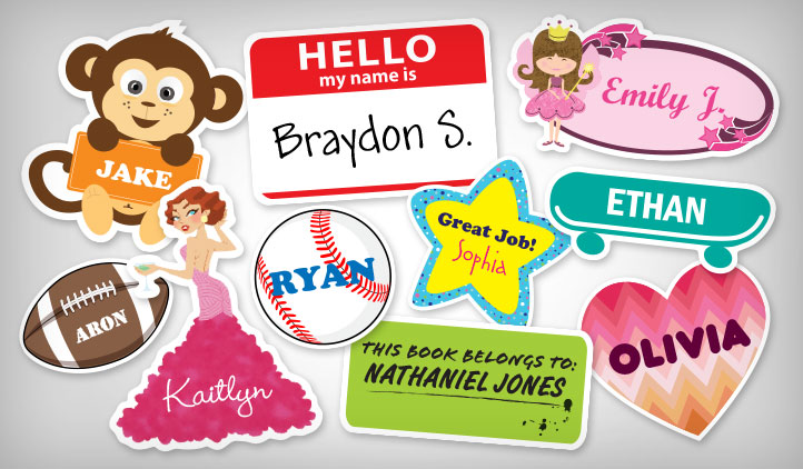 Name Stickers Stickeryou Products Stickeryou