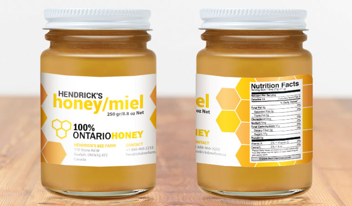 Ontario Honey Labels