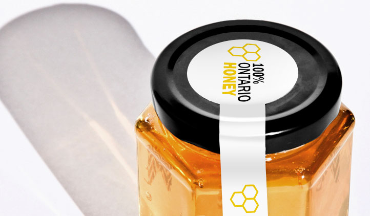 Tamper Evident Ontario Honey Labels