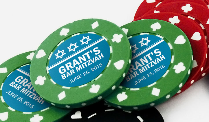 Poker Chip Labels