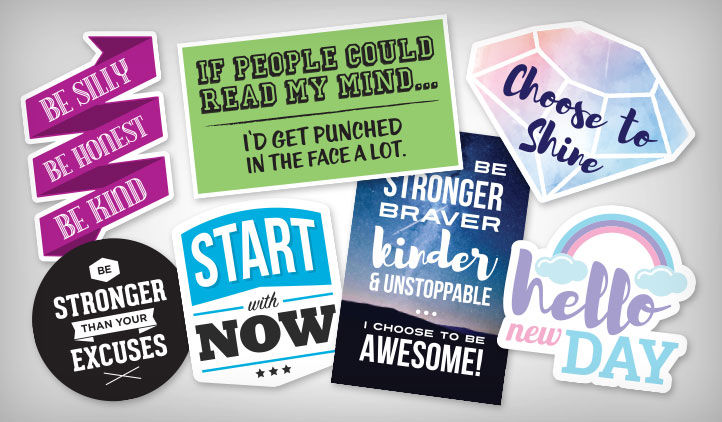 Quote & Motivational Stickers