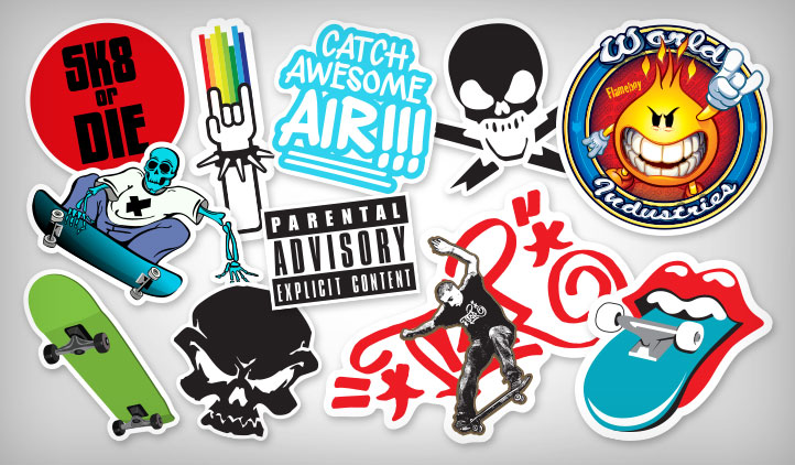 Skateboarding stickers 1
