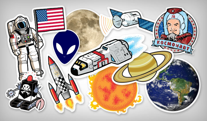 Space & Scifi Stickers