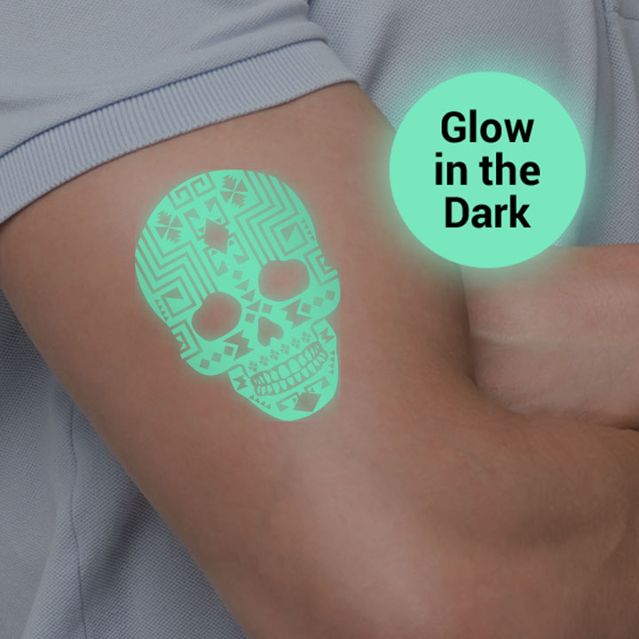 Glow in the Dark Specialty Temporary Tattoos