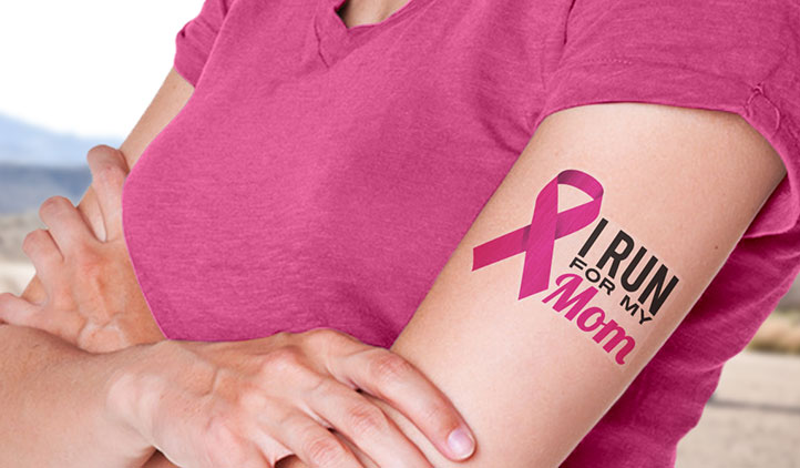 Breast Cancer Charity Temporary Tattoos
