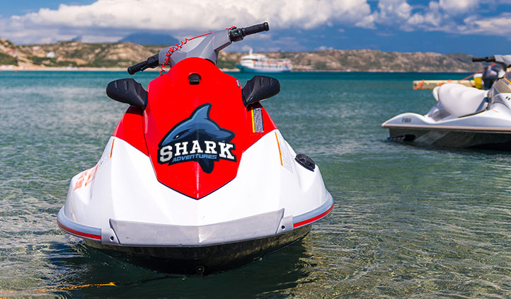Custom decals on a jet ski