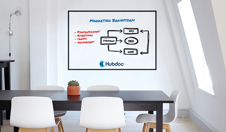 Dry-erase office decal