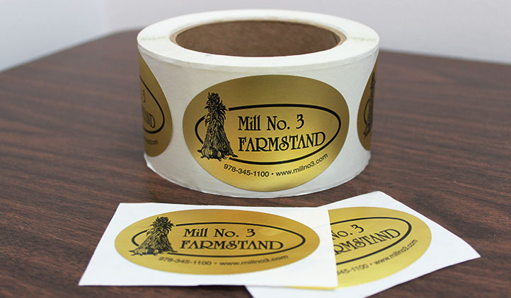 Gold foil roll labels