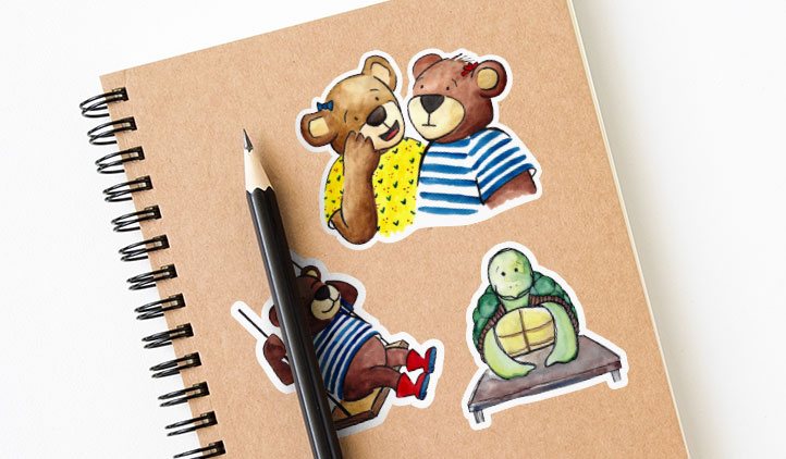 Julhaney Illustration Sticker Singles