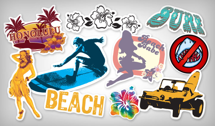 Surf stickers stickeryou products