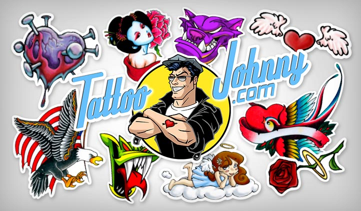 Tattoo johnny stickers stickeryou products